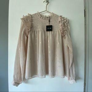 NWT Joe's jeans fish wire ruffle blouse